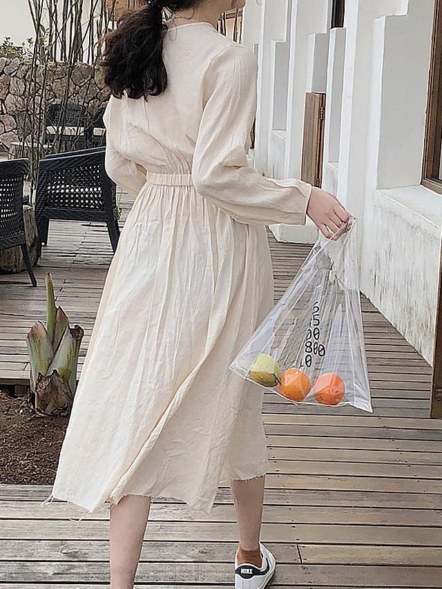 Cutting Waist Banding Spring Dress
