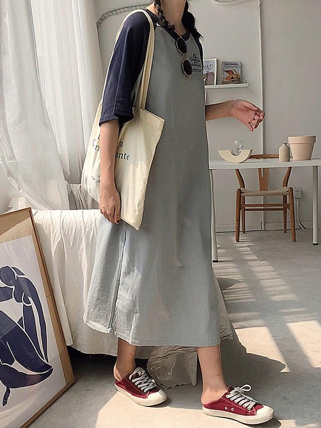 ROSE Nagareng Round neck short-sleeved dress