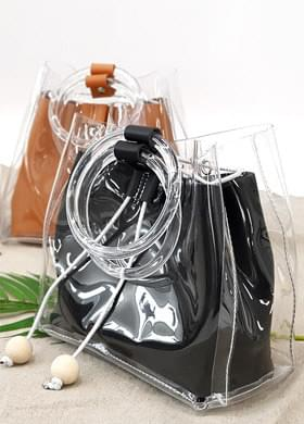 Transparent Backpack Beach Bag Mini Cross Bag
