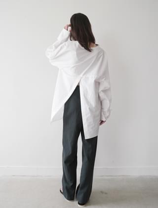 back slit loose shirt (3colors)