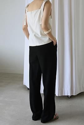 Light linen blend long slacks