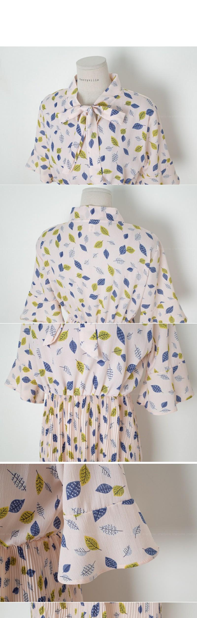 Leaves ribbon dress