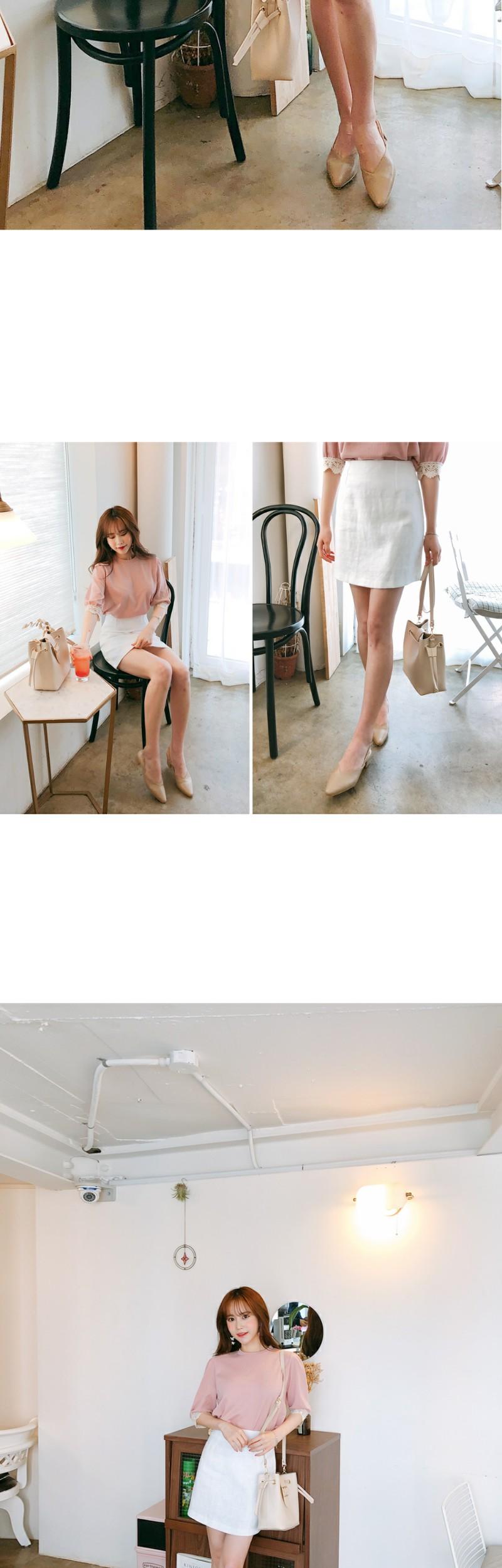 Pure white skirt