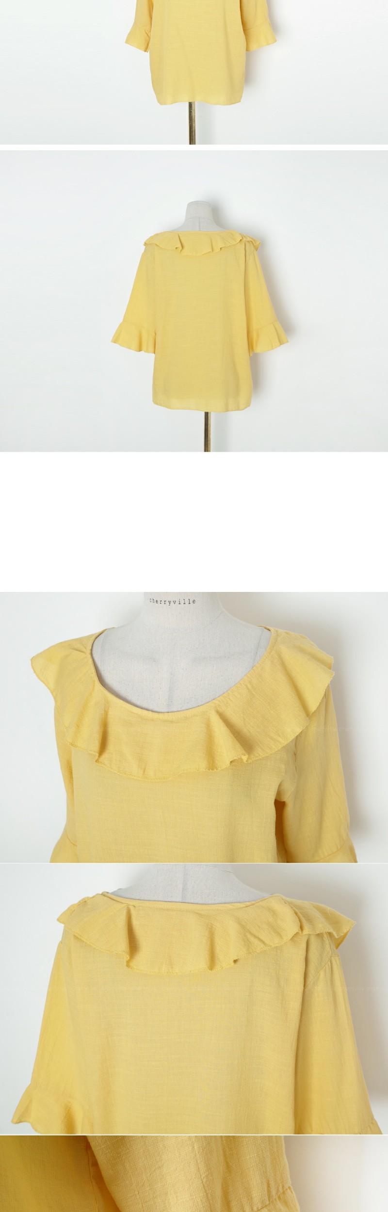 Frill high-grade jersey blouse