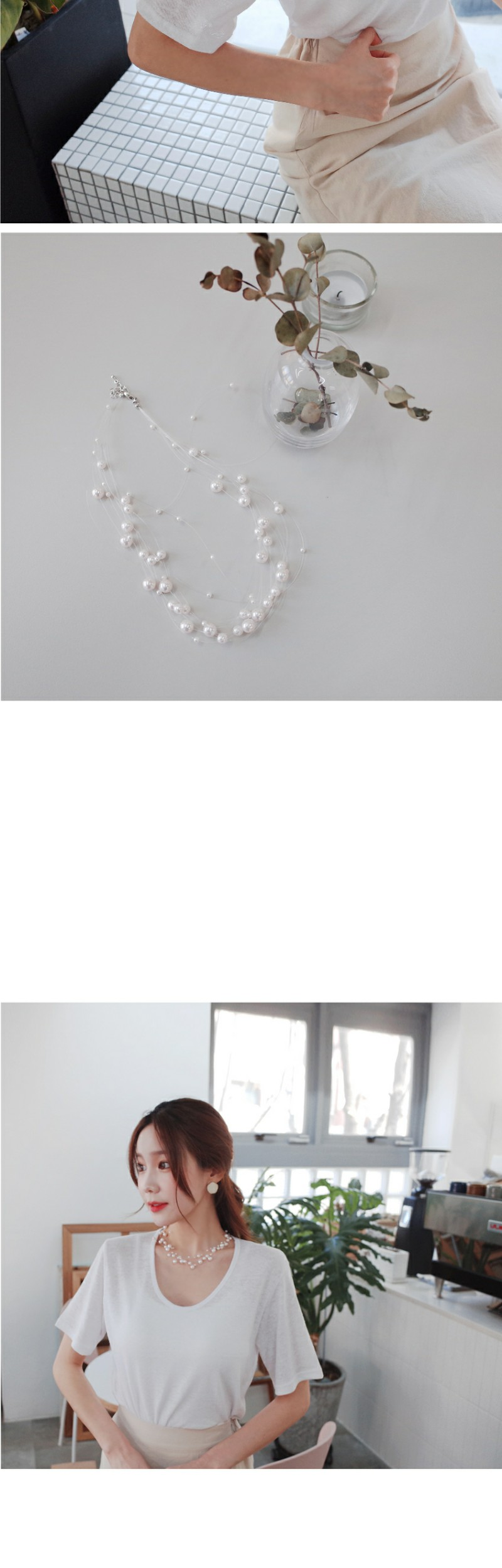 Wrapping Pearl Necklace