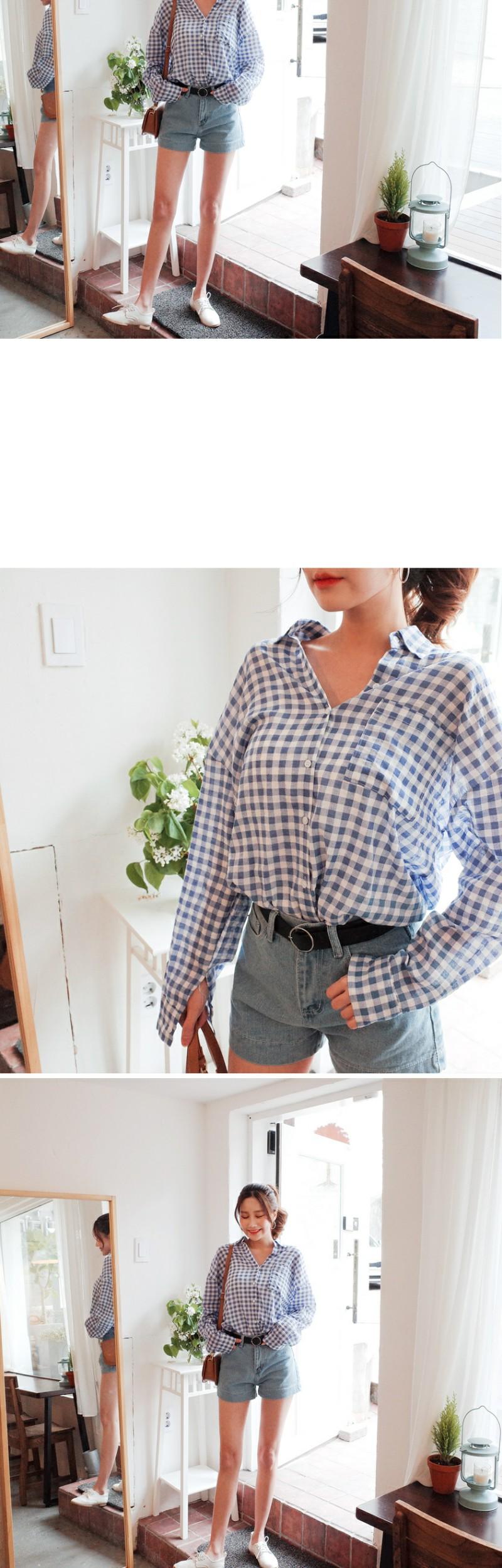 Check-like shirt