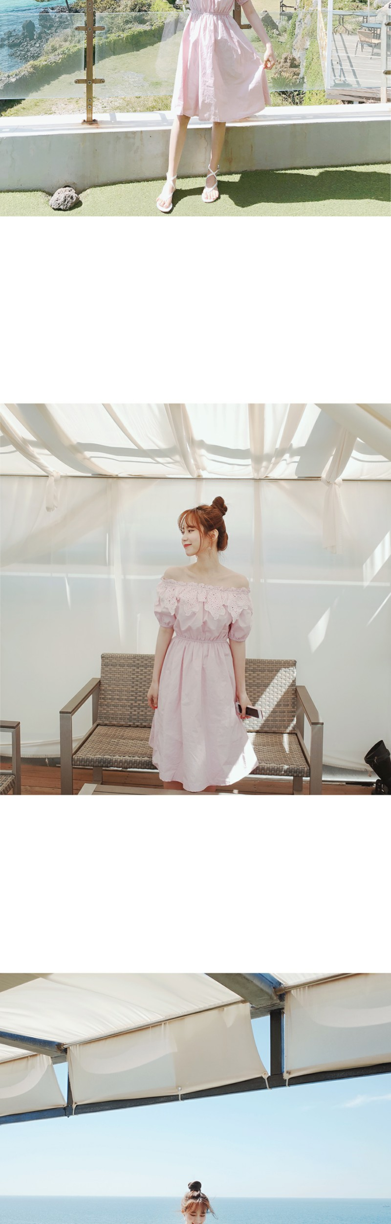 Lace-off dress