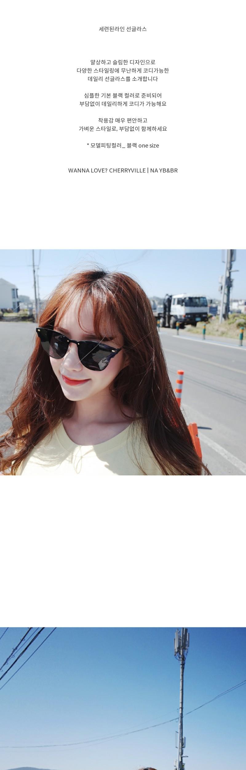 Sophisticated line sunglasses