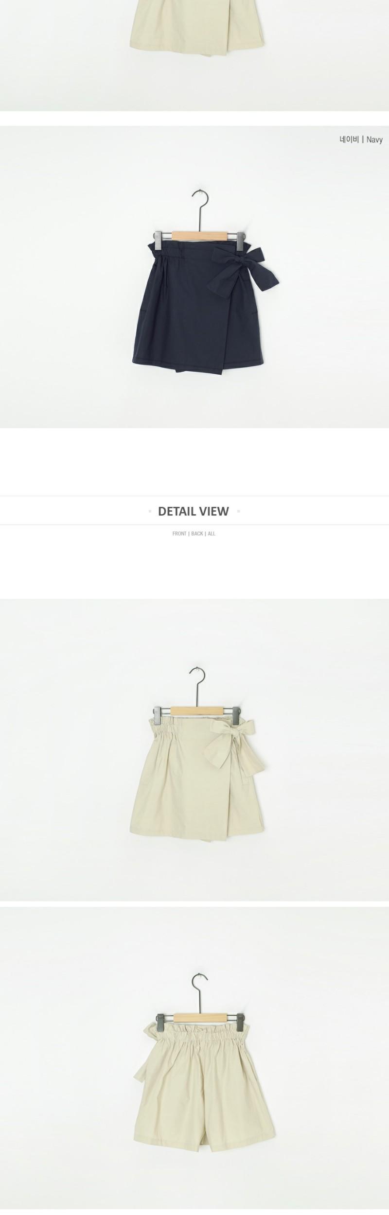 Wrap style ribbon pants