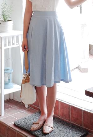 Today is a blue skirt