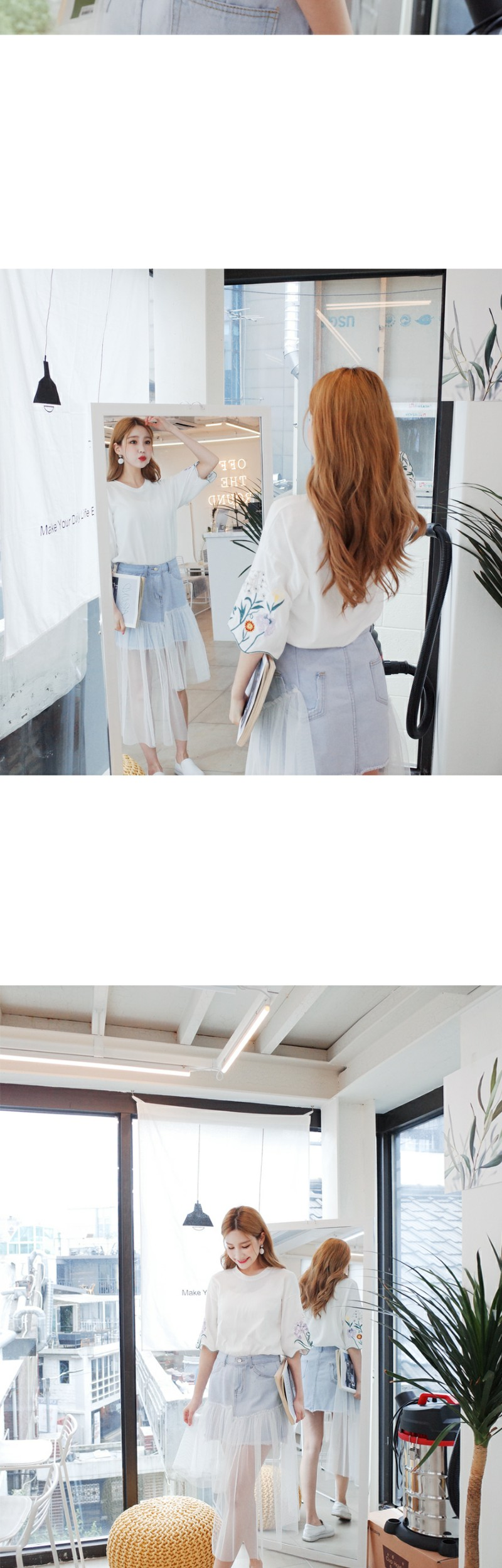 Retail Beautiful embroidery Tee