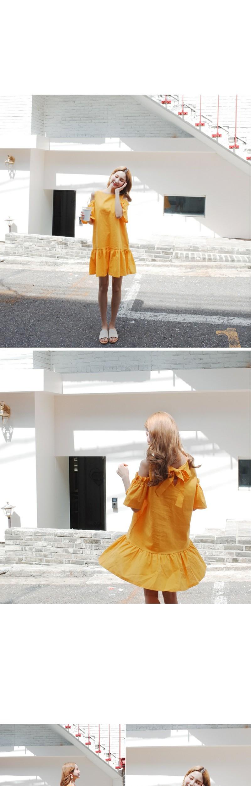 Off-Shoulder Ruffle Dress