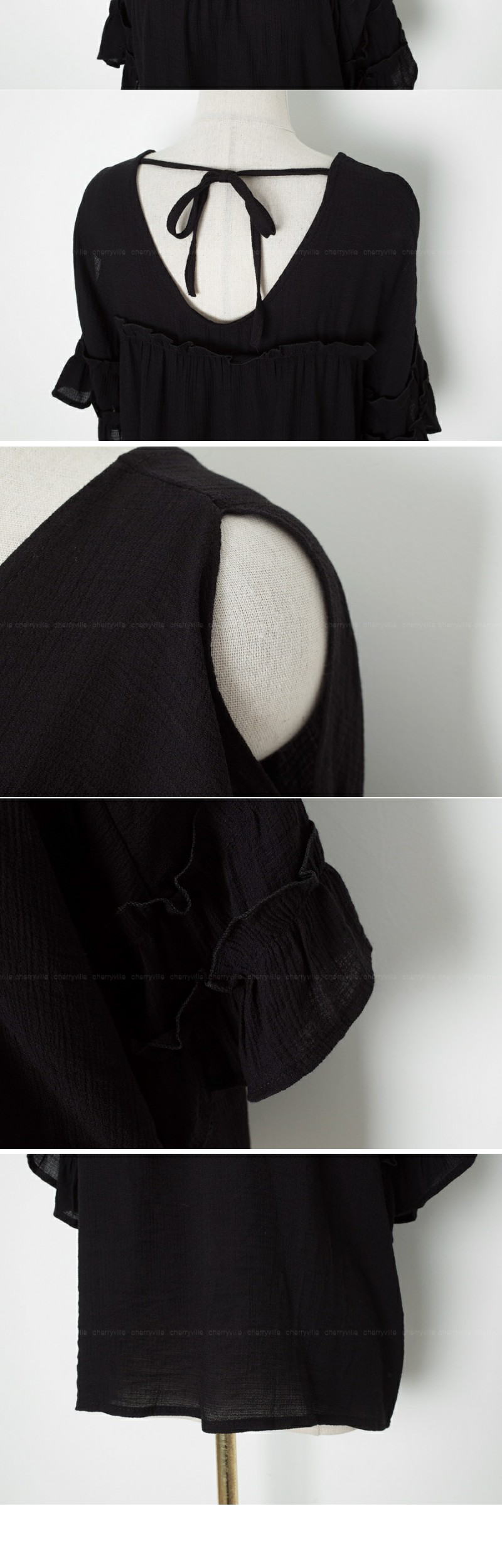 Rear Ribbon Blouse