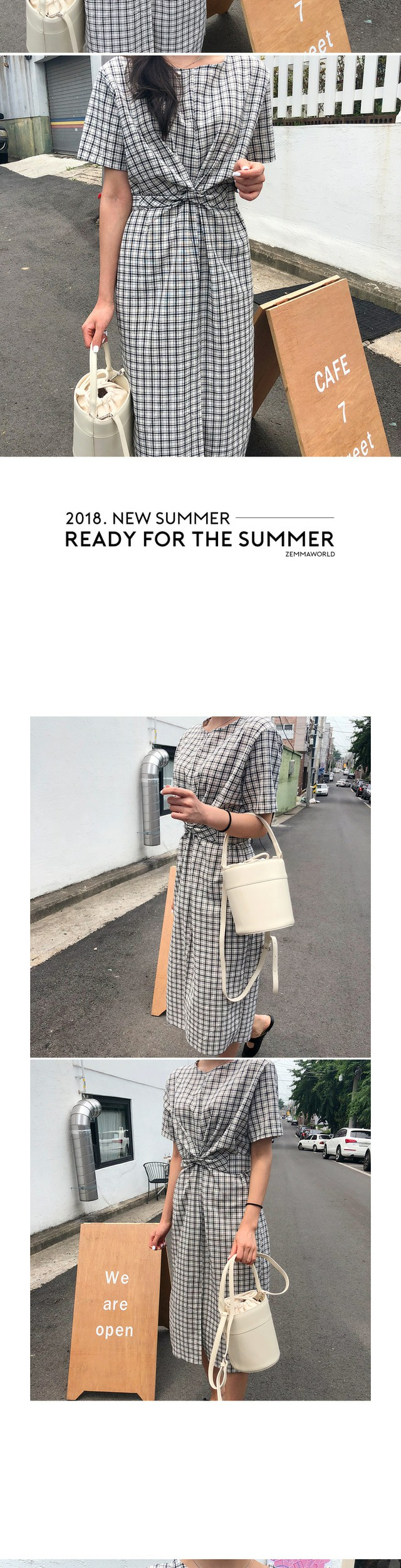 "MA-Cream ""MY ADORABLE BAG"" Cylindrical Bucket Bag"