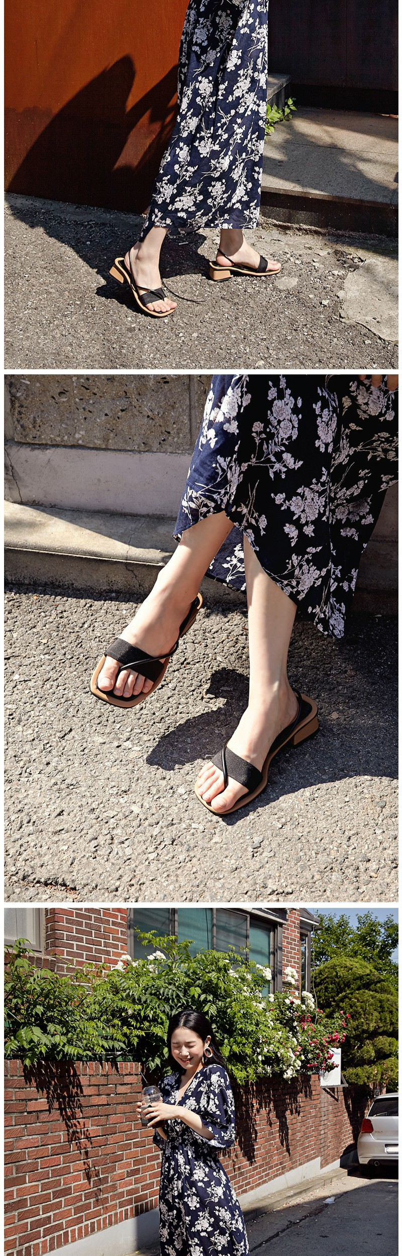 Cross string midi sandal_H (size : 225,230,235,240,245,250)