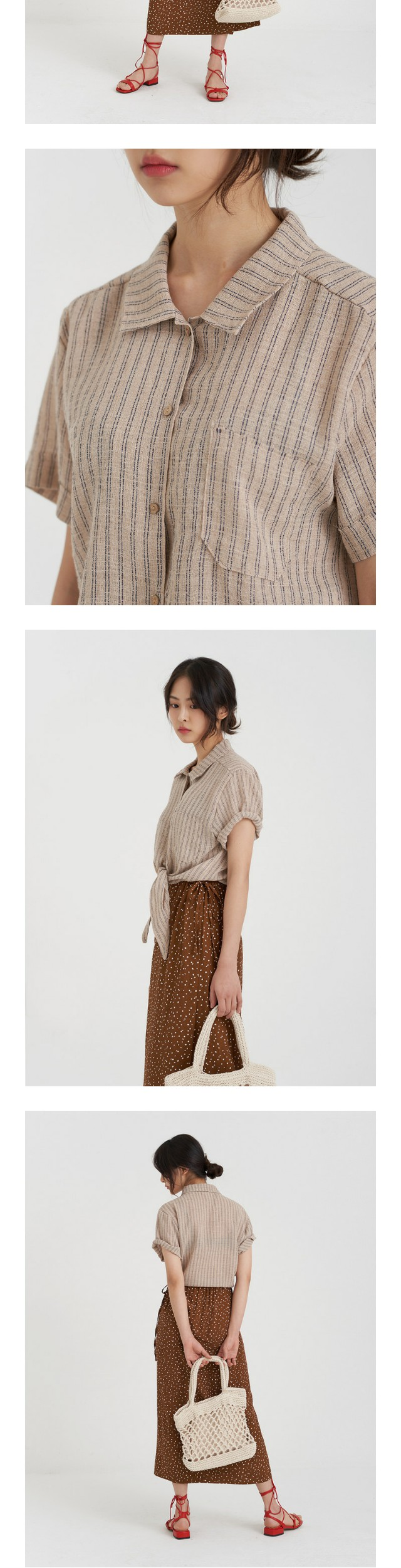 coconut tie shirt (3colors)