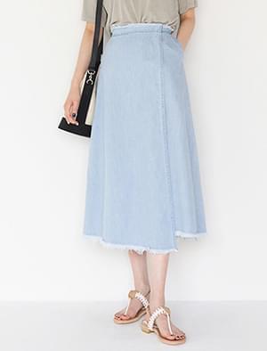 fringe detail wrap skirt