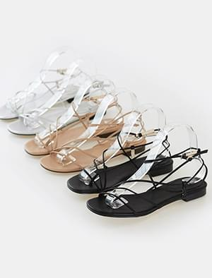 simple slim strap sandal