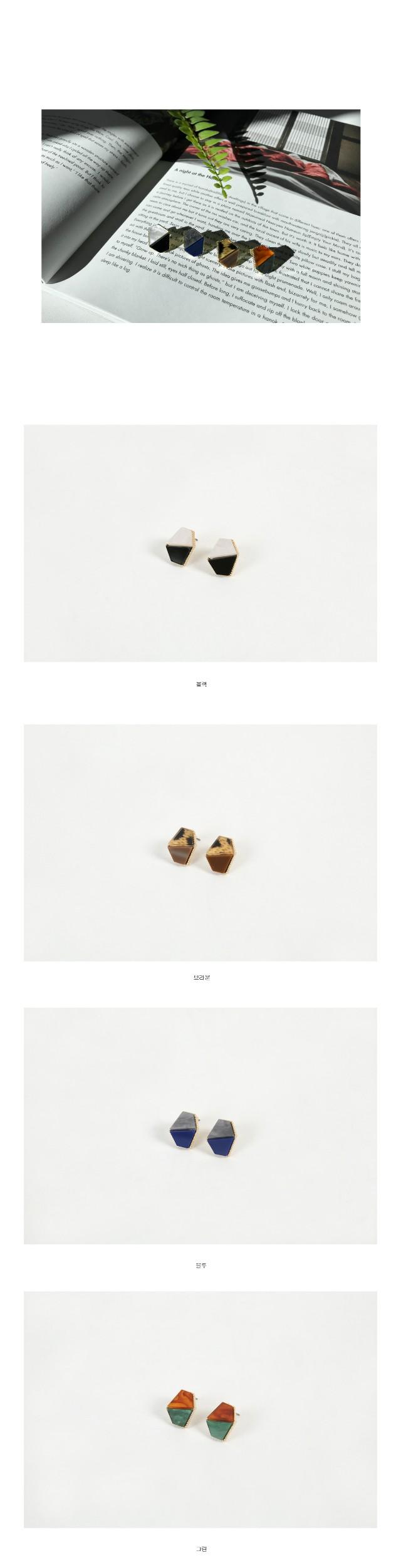 Two-tone earrings