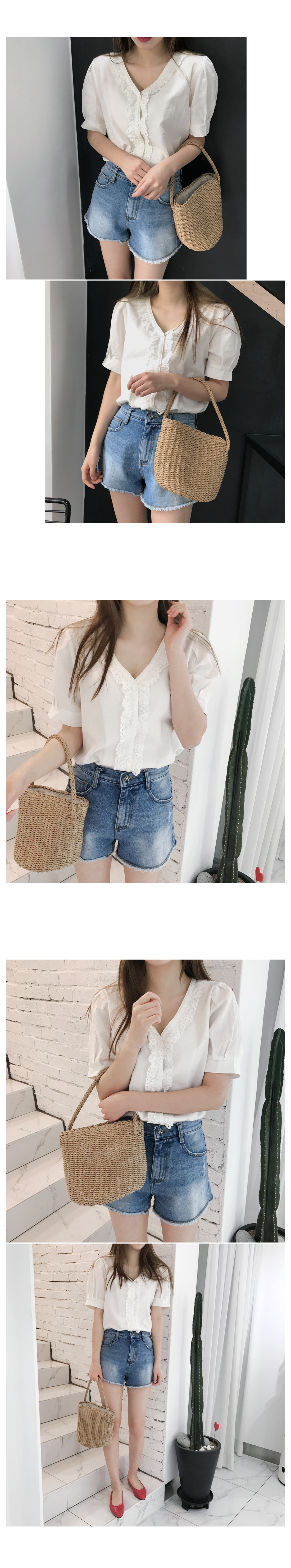 Darby Lace Linen Blouse