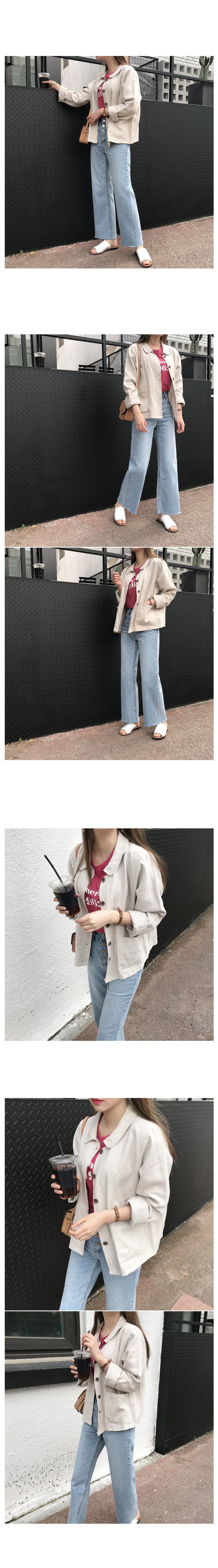 Denim for button wide pants