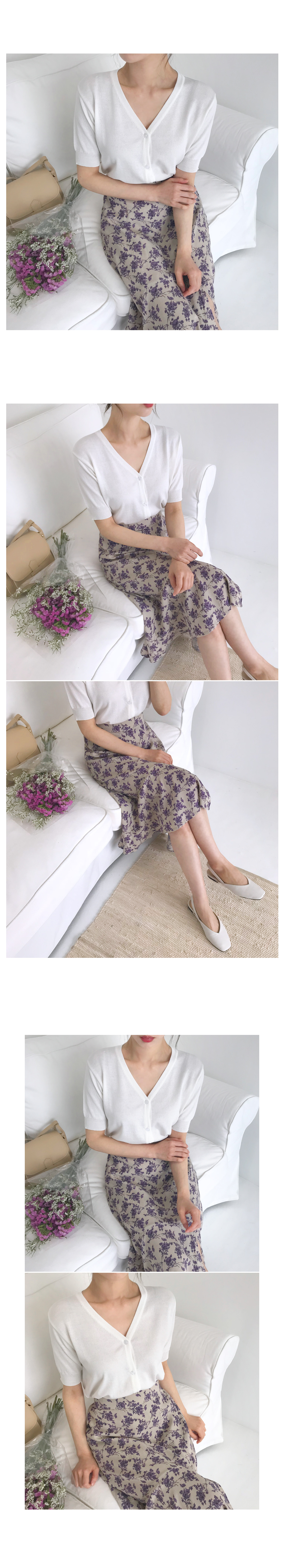 Hera Flower Long Skirt