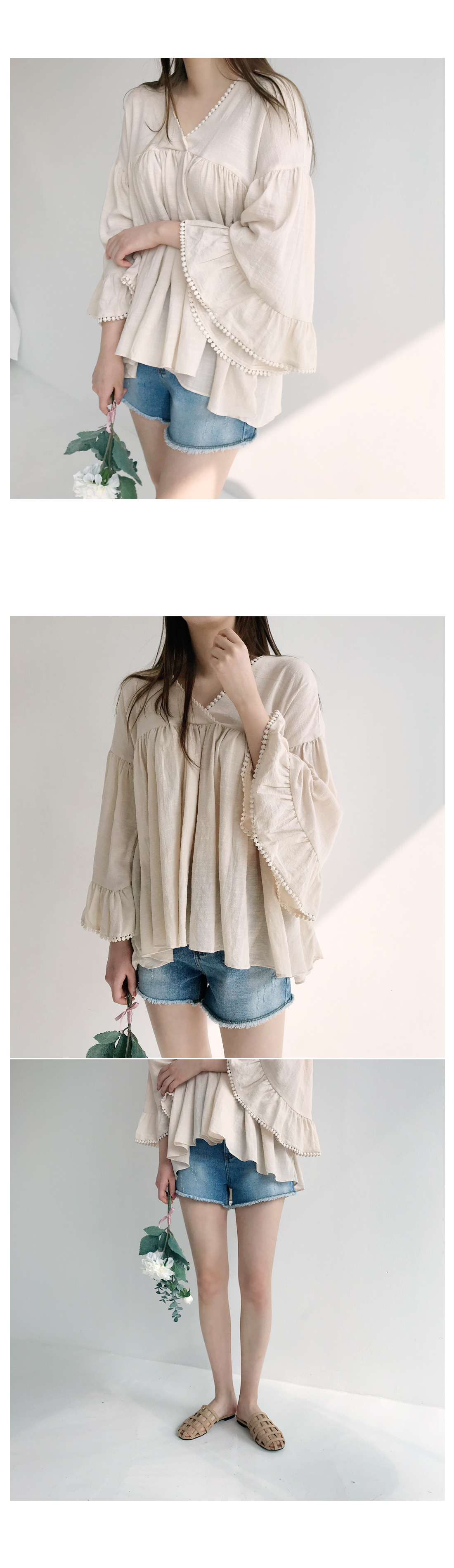 Bell lace blouse