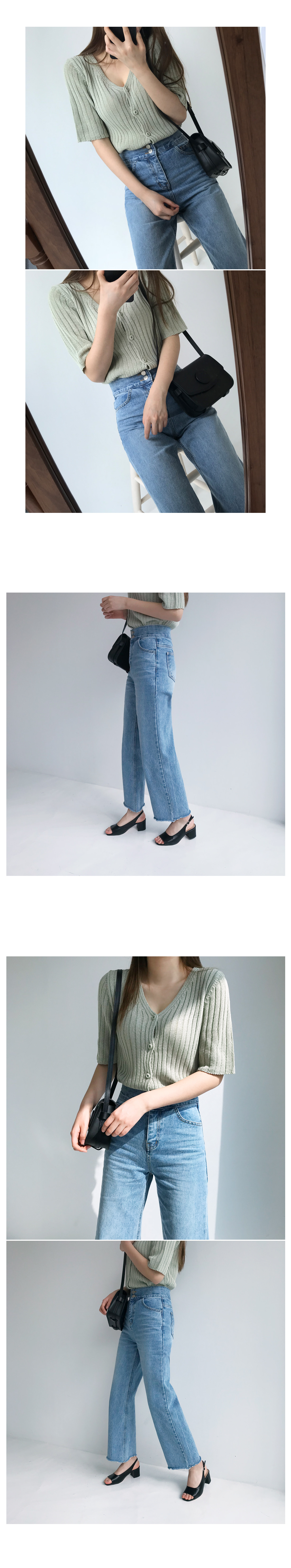 Two button wide pants
