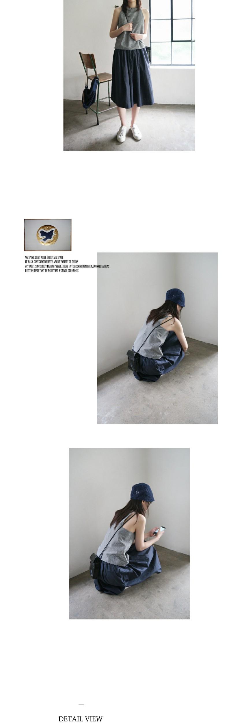 gingham check minimal sleeveless (2colors)