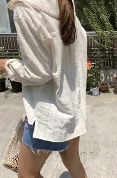 Self-titled / Creamsoft-Serra blouse