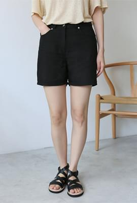 Tidy linen half pants