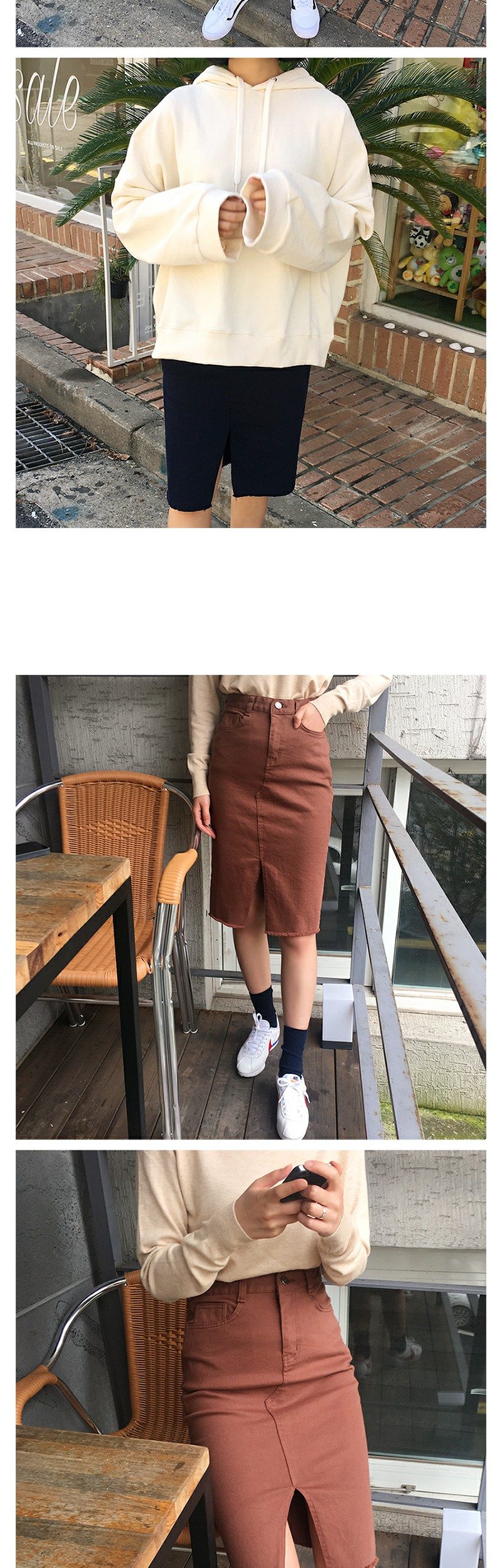 Garments washing cotton skirt_K (size : S,M)