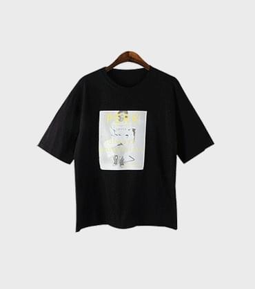 찰리 레트로 티셔츠