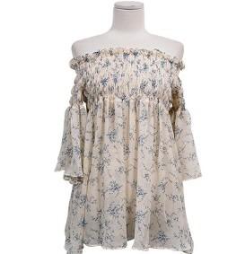 Sharp-off shoulder blouse