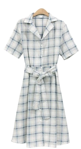 Location check dress