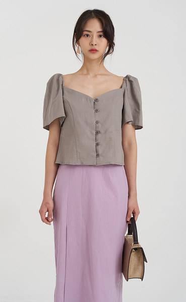 elegant linen blouse (2colors)