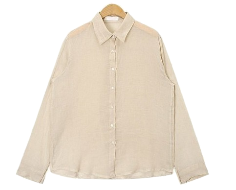 olive see through linen shirts