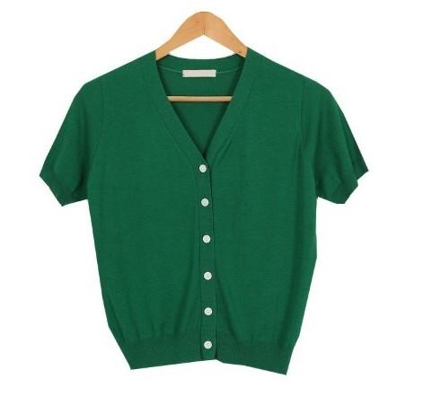 Vivid short sleeve knit cardigan