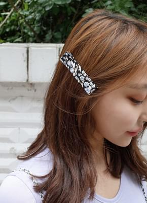 Wide Silk Hair Clip
