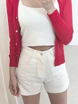 Linen cell shorts