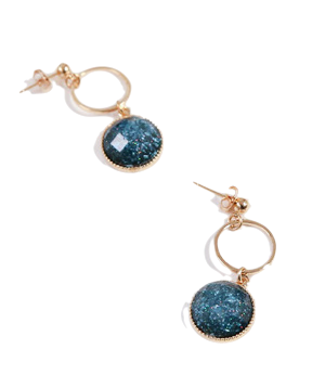 Colorful ring earrings