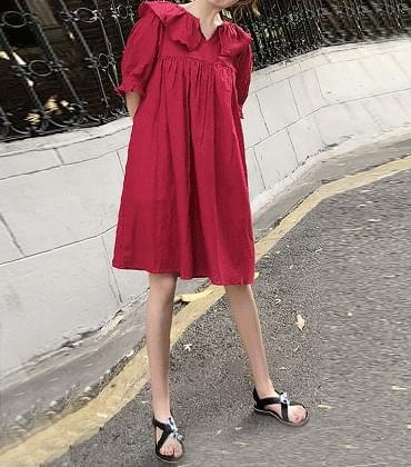 Agne ruffle dress