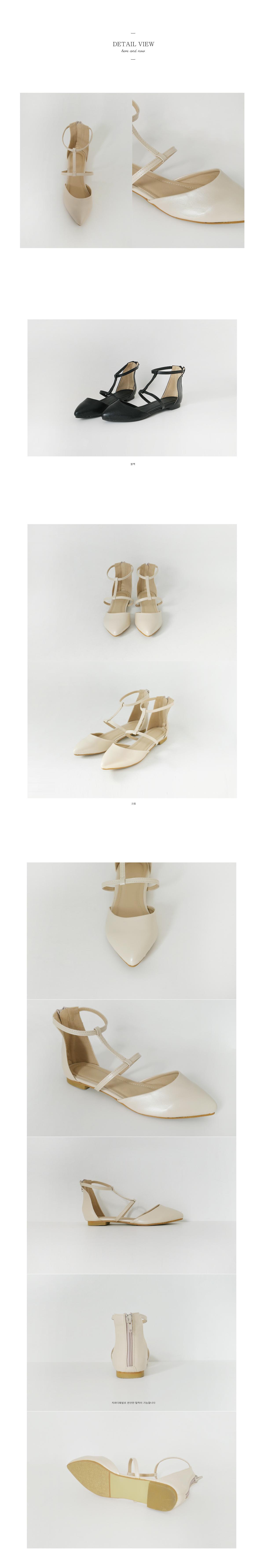 cross strap flat shoes(2colors)