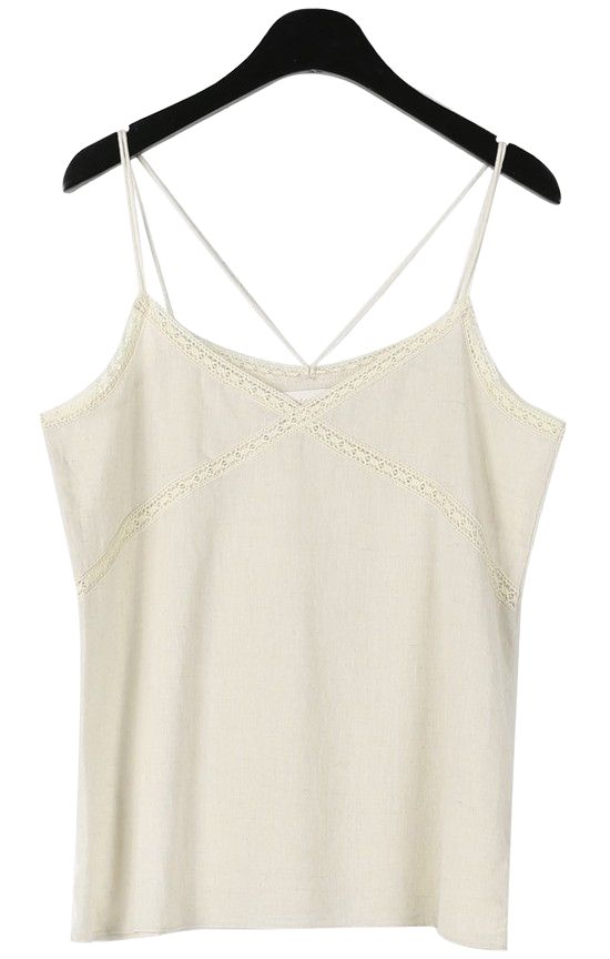 Lace cross string sleeveless