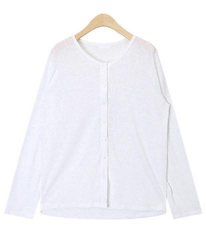 simple linen button T