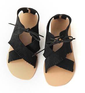 soft suedette bohemian sandals (3colors)