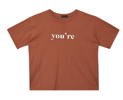 You are Lettering Top