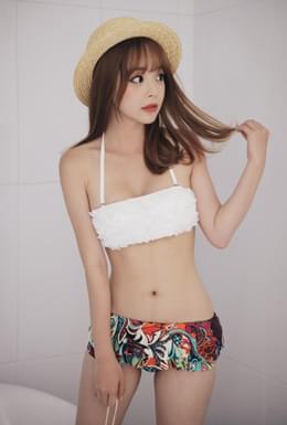 Top All Frill Bikini (bk016)