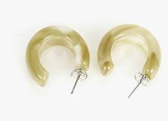 water hoop earring