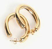 oval hole earring